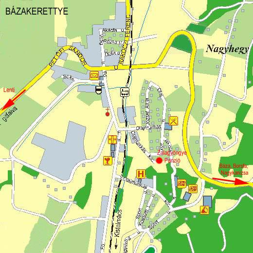 magyarország térkép bázakerettye Megközelítés   Zalagyöngye Panzió   Bázakerettye, Zala Megye magyarország térkép bázakerettye